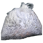 image of shredded paper in bag