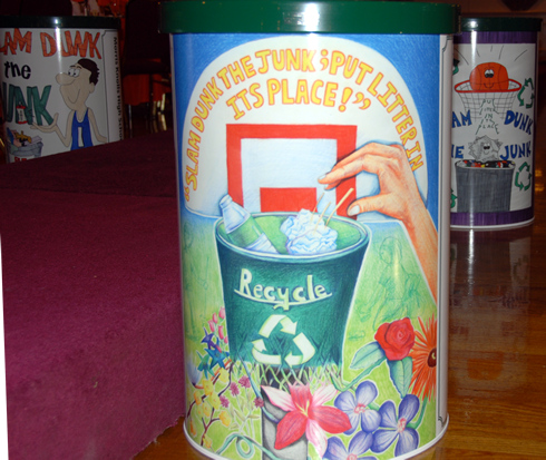 Below Is A Sample Of What Winning Posters Look Like When Replicated On Recycling Receptacles At The Mcmua S Awards Dinner