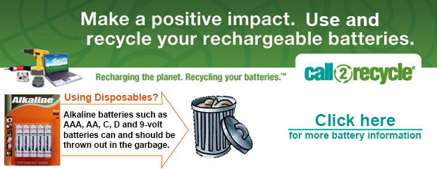 image information regarding rechargeable battery recycling and alkaline battery disposal