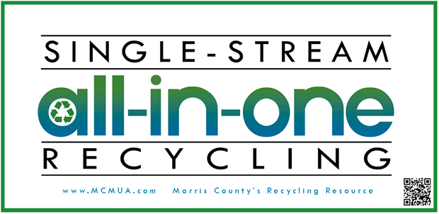 image of all-in-one single-stream recycling decal