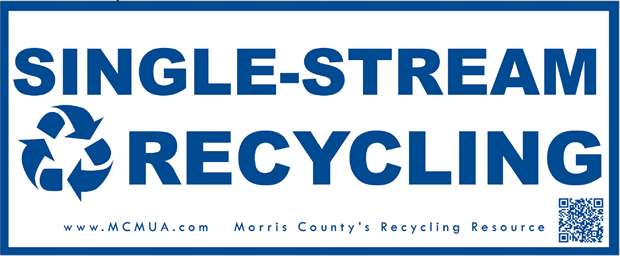 image of generic single-stream recycling decal
