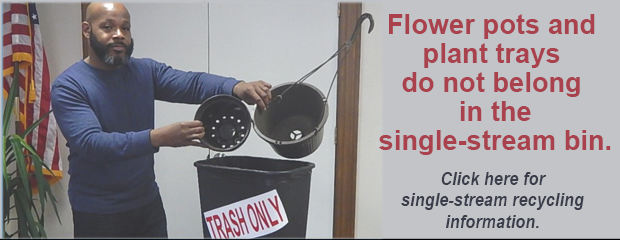 image flower pots not being recyclable
