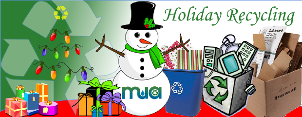 Image of holiday recycling scene