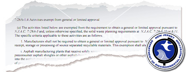 Image NJDEP Recycling Exemptions