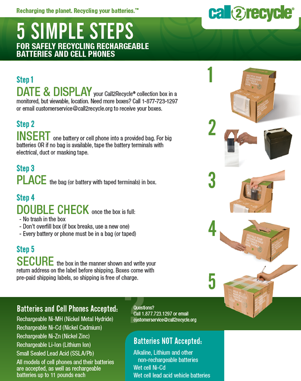 Image of RBRC How To Recycle Batteries Poster