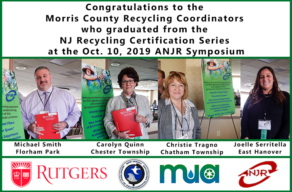image of 2019 Certified Professional Recycler Graduates from Morris County