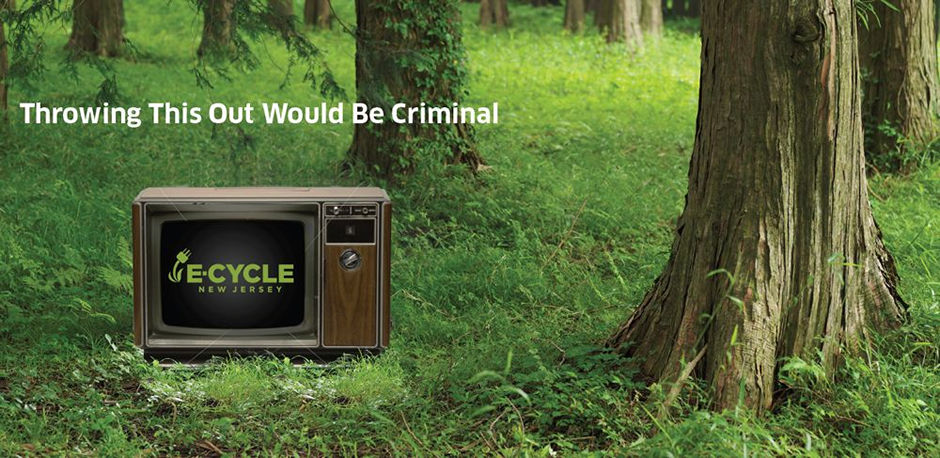 Image of TVs illegally dumped in woods