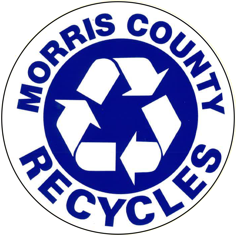 image of decal Morris County Recycles - Round