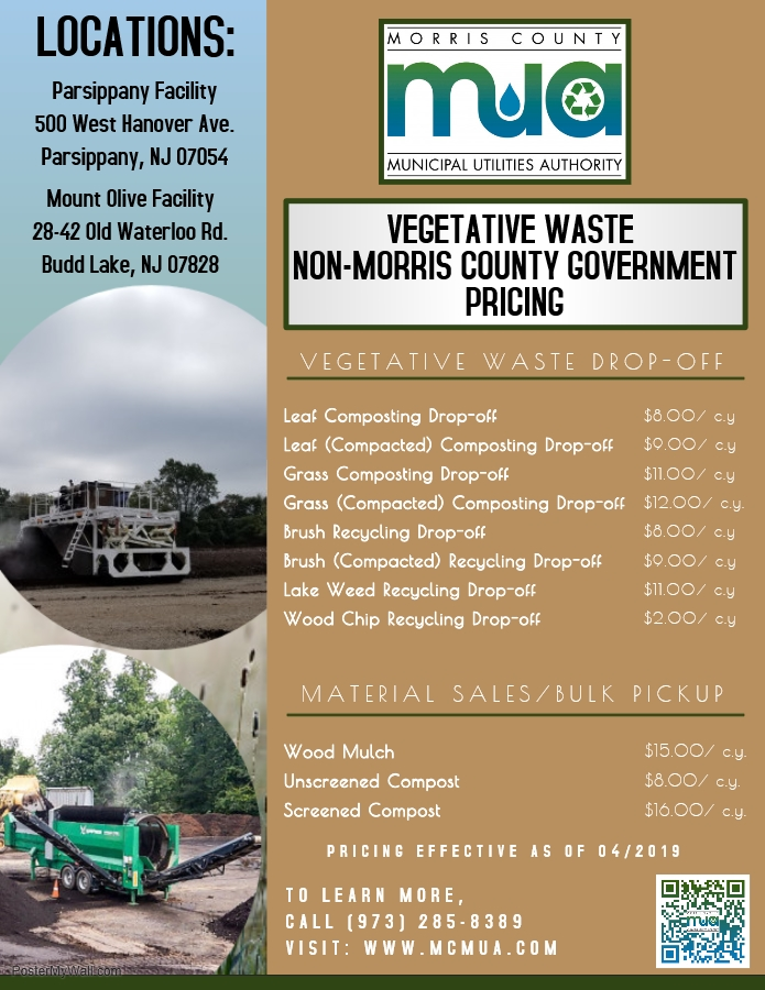 Image of 2019 Veg Waste Pricing (Non-Morris Co. Governments)