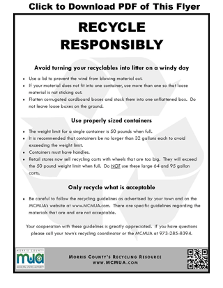 Download the Recycle Responsibly Flyer