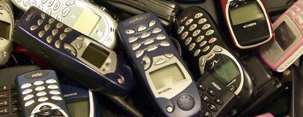 Image of discarded cell phones