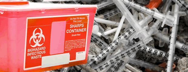 Image of medical waste and sharps