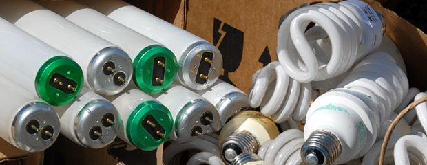 Image of discarded fluorescent lamps