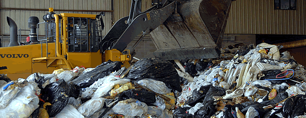 Image of garbage and Front-End Loader